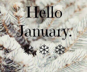 january, winter, and hello image