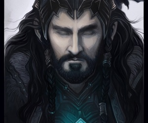 hobbit, king, and thorin image