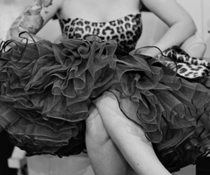 alternative, black and white, and dress image