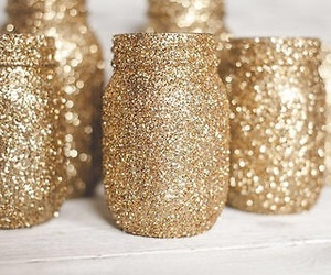 glitter, gold, and diy image