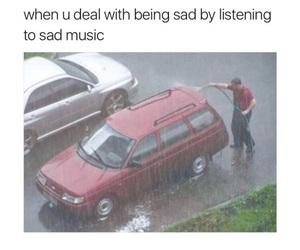 rain, sad, and funny image