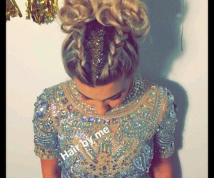 blonde, fashion, and sparkly image