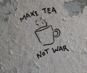 tea, war, and grunge image