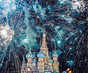 moscow and new year image