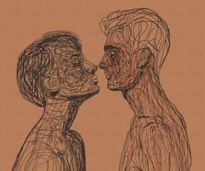 art, boy, and girl image