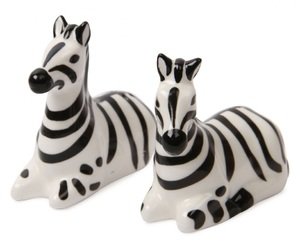zebra, paperchase, and salt and pepper shakers image