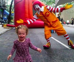 clown, funny, and cry image