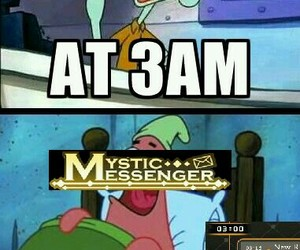 mystic messenger and funny image