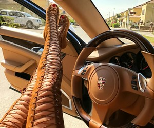 shoes, car, and luxury image