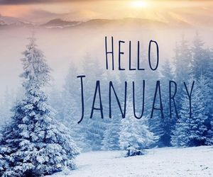 hello, january, and winter image