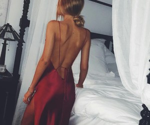 blond, dress, and girl image