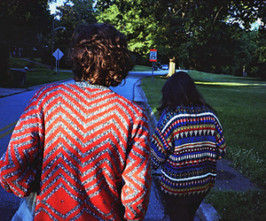 sweater, girl, and boy image
