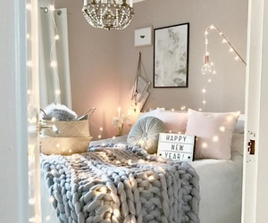 bed, cozy, and design image