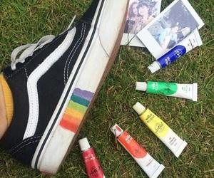 vans, rainbow, and tumblr image