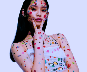 model, girl, and sticker image