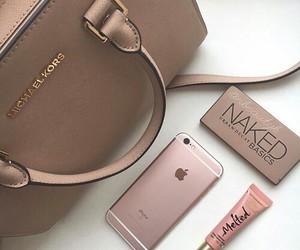 bag, naked, and rose gold image