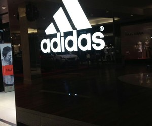 adidas, happy, and black and white image