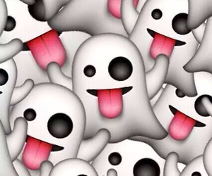 emoji, ghost, and wallpaper image