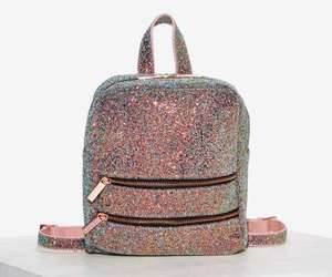 backpack, fashion, and glitter image