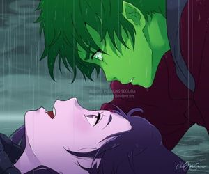 anime, beast boy, and love image