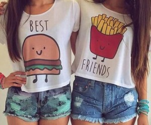 best friends, friends, and bff image