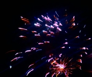 colorful, firework, and night image