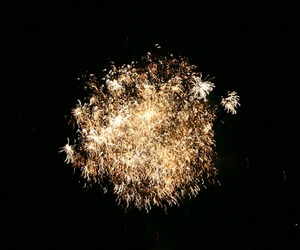 black, fireworks, and new year image