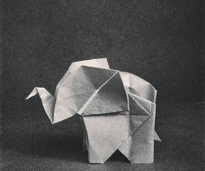 elephant and origami image