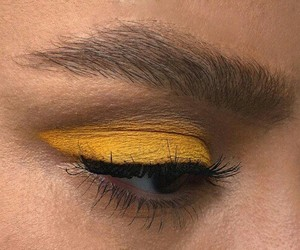 yellow, makeup, and aesthetic image