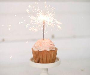 cupcake, birthday, and sparkle image