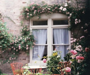 casa, flores, and pink image