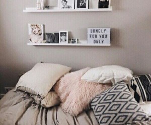 bed, pink, and inspiration image