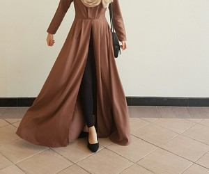 brown, heels, and hijab image