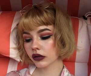 beauty, grunge, and makeup image