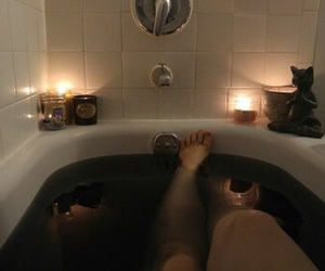 bath, black, and grunge image