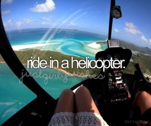 helicopter, bucket list, and adventure image