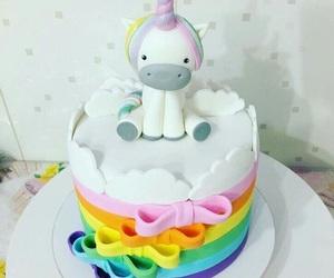 unicorn, cake, and pastel image