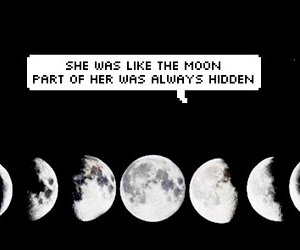 aesthetic, moon, and quote image