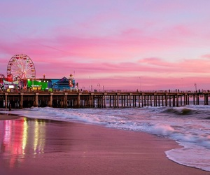 los angeles, pier, and santa monica image