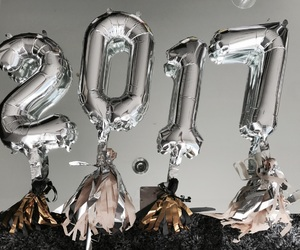 happy new year, party, and 2017 image
