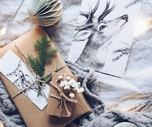 decor, deer, and cozy image