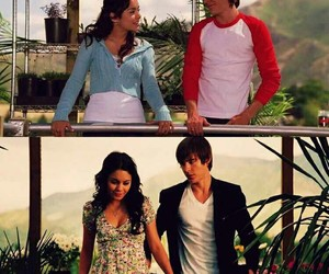 zac efron, HSM, and vanessa hudgens image