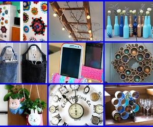 diy recycled crafts ideas image