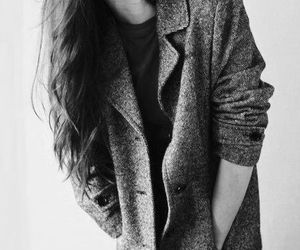 black and white, fashion, and girl dp image