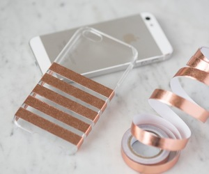 diy, iphone, and gold image
