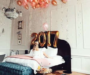 2017, girl, and new year image