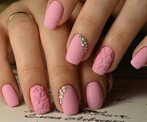 nails, nail art, and girl image