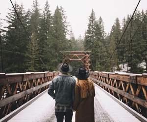 bridge, couple, and photography image
