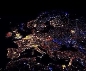 europe, light, and night image
