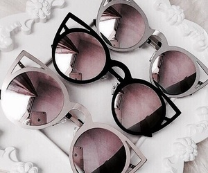 sunglasses, pink, and style image
